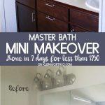 Master Bath Mini Budget Makeover