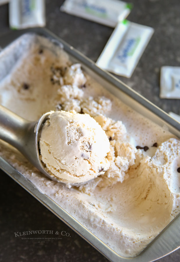 Less sugar added No Churn Coffee Ice Cream