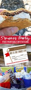S'Mores Party Free Printable Invitation 2000