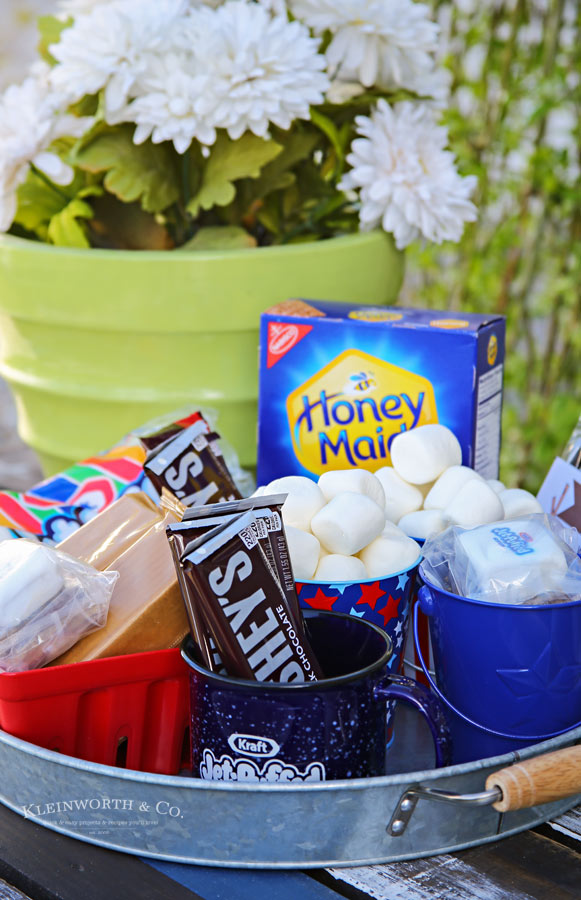 S'mores Party Free Printable Invitations & party platter