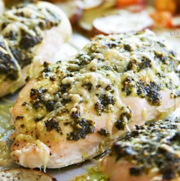 Sheet Pan Pesto Chicken Dinner