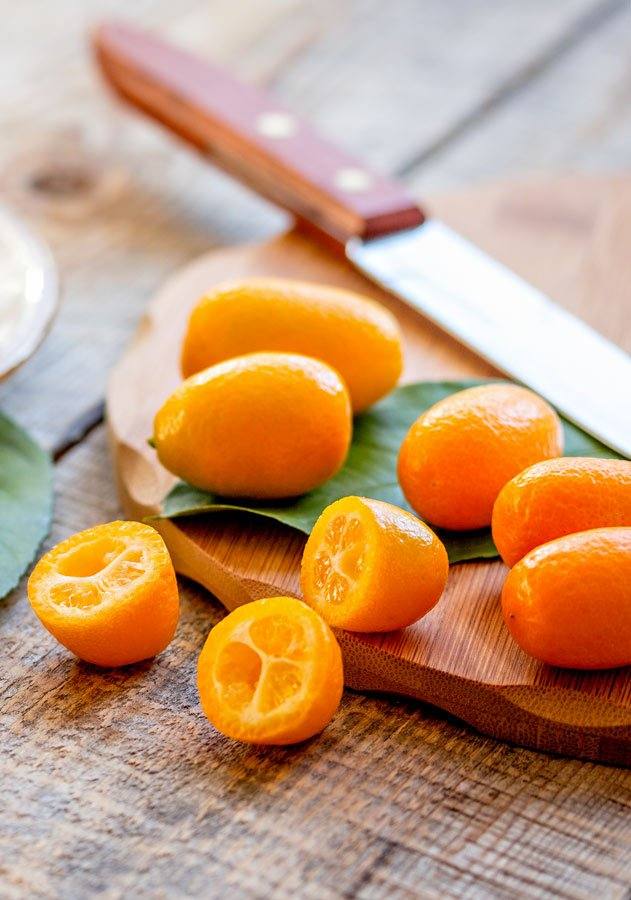 Kumquats for Sheet Pan Pesto Chicken Dinner
