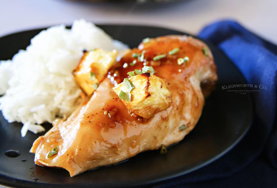 Teriyaki Chicken Bake - This is a delicious main dish recipe. It's as easy as dump, bake & enjoy.