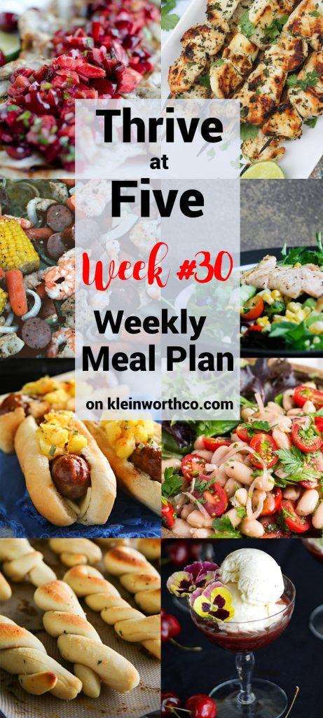 Thrive at Five Meal Plan Week 30