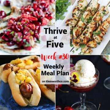 Thrive at Five Meal Plan Week 30