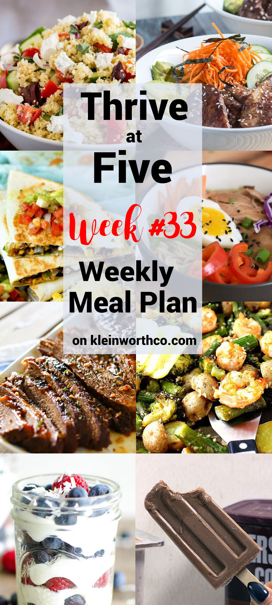 Thrive at Five Meal Plan Week 33
