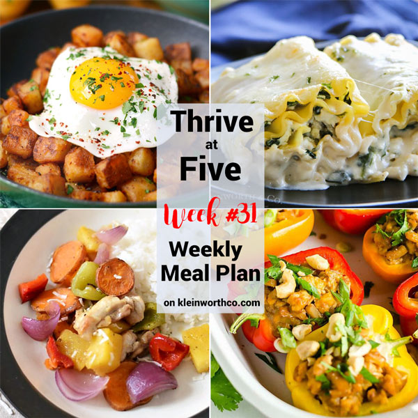 Thrive at Five Meal Plan Week 31