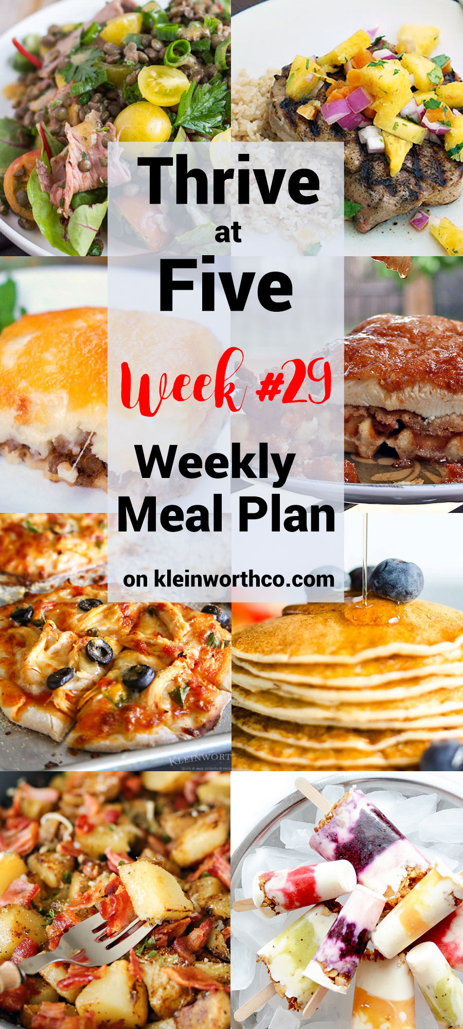 Thrive at Five Meal Plan Week 29