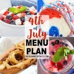 4th of July Menu Plan