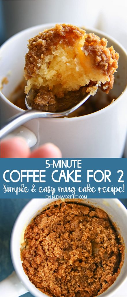 5-Minute Coffee Cake for Two