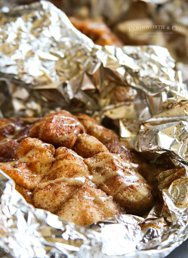 Tin Foil Desserts- Campfire Monkey Bread