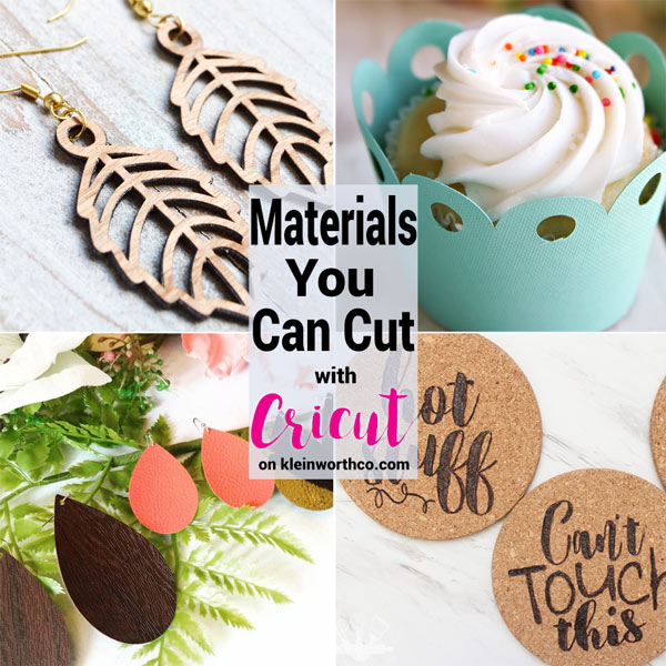 Materials You Can Cut with Cricut