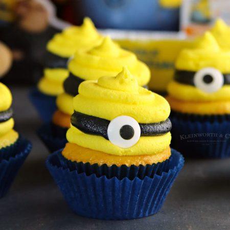 Despicable Me 3 Minion Cupcakes