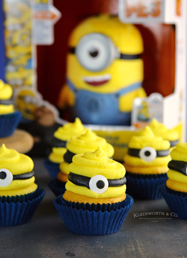Recipe Despicable Me 3 Minion Cupcakes