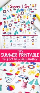 Summer I Spy Printable - Games for Kids