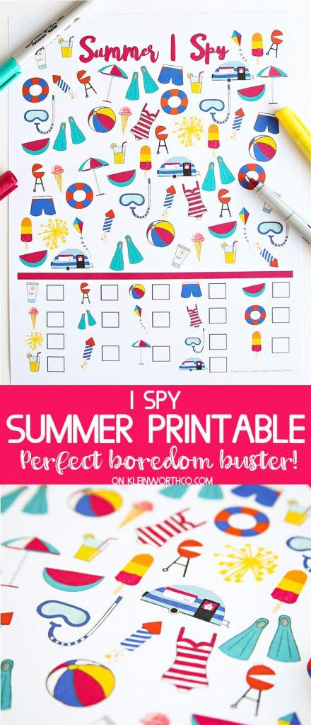 Summer I Spy Printable - Games for Kids