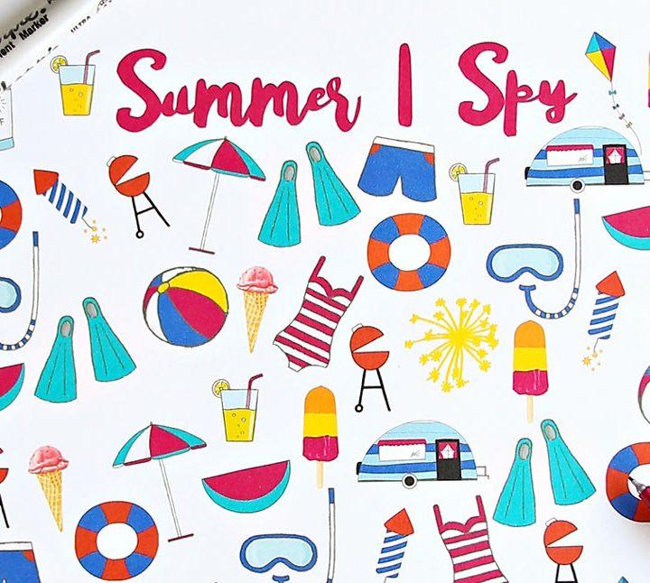 Summer I Spy Printable