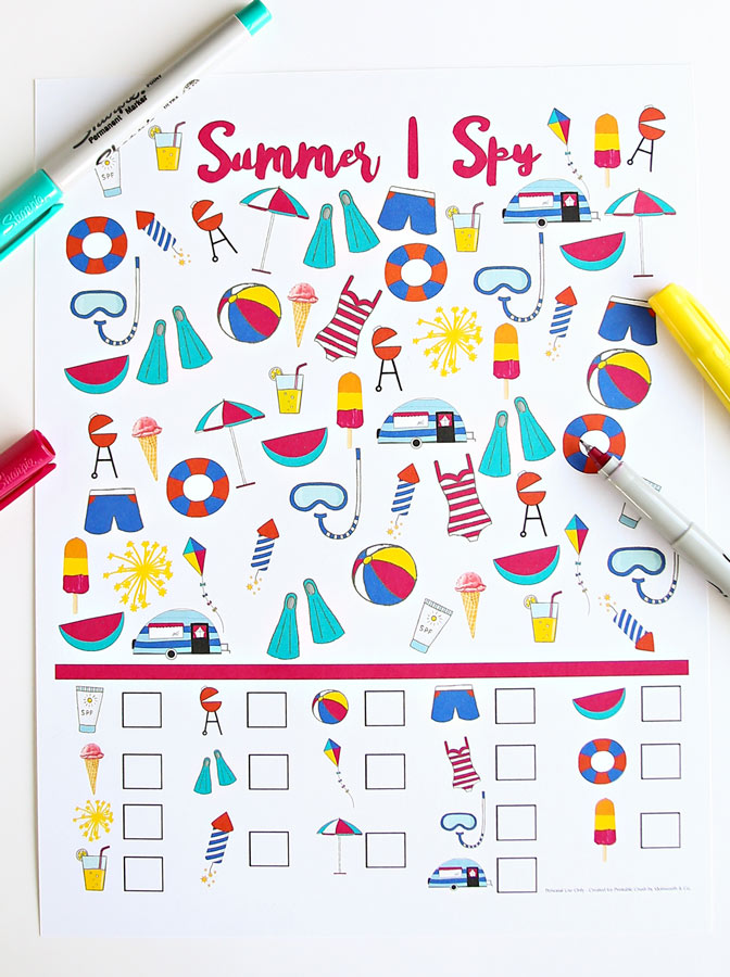 Summer I Spy Printable
