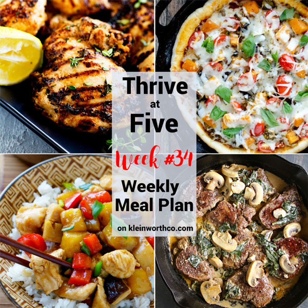 Thrive at Five Meal Plan Week 34