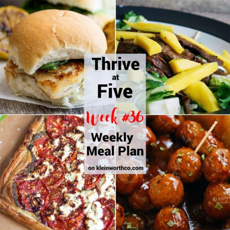 Thrive at Five Meal Plan Week 36
