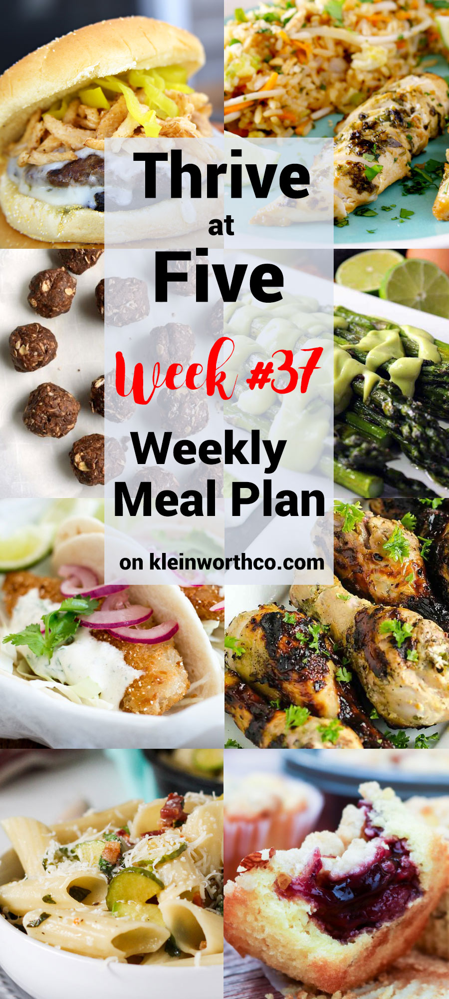 Thrive at Five Meal Plan Week 37