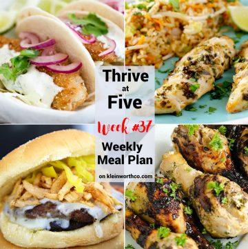 Thrive at Five Meal Plan Week 37