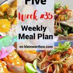 Thrive at Five Meal Plan Week 35