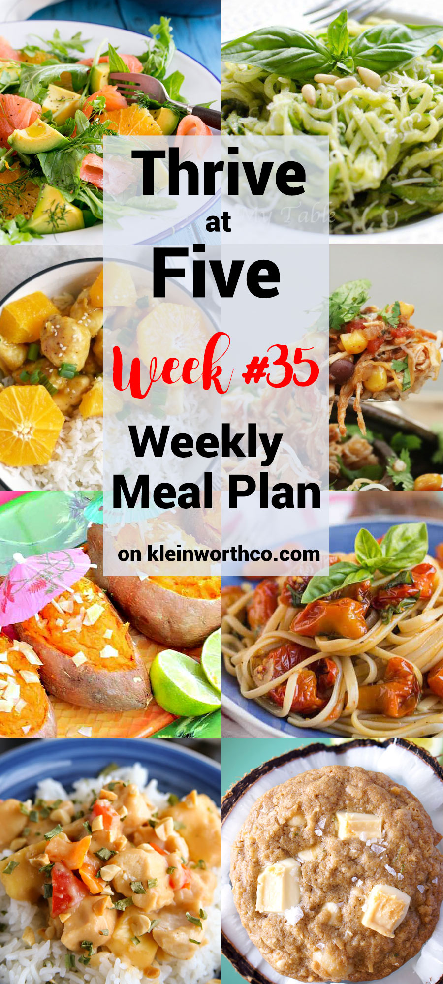 Thrive at Five Meal Plan Week 35