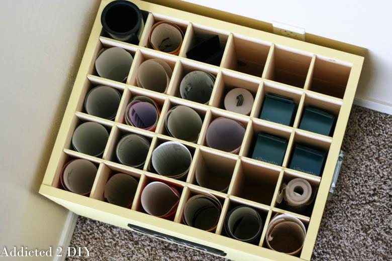 Creative Craft Supply Storage Ideas. DIY Vinyl ...