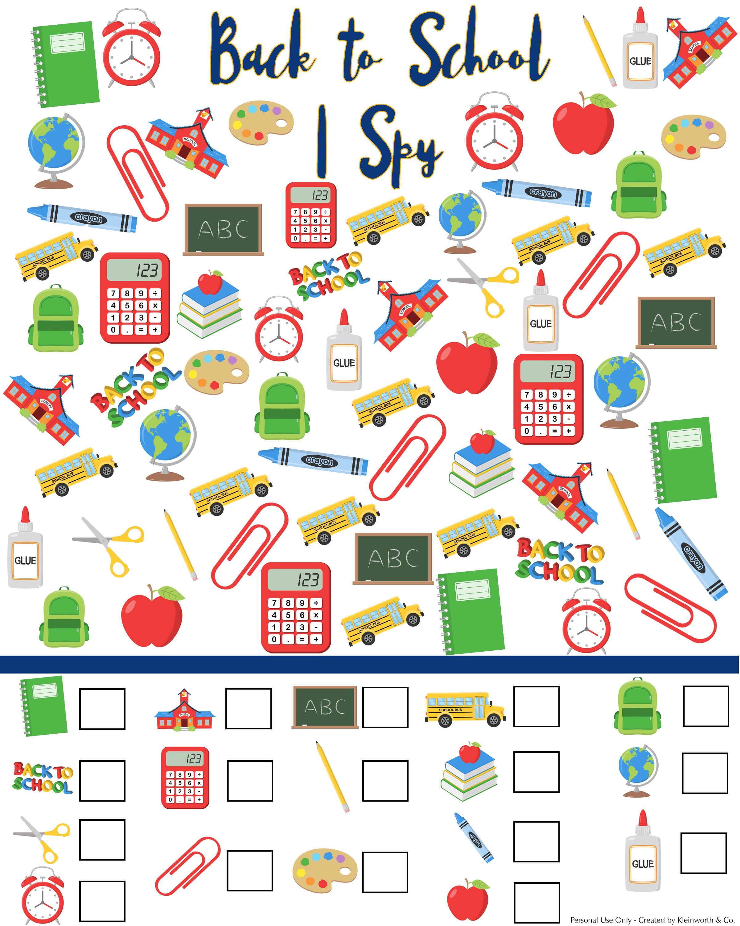 picture about I Spy Printable identify Back again in direction of Faculty I Spy Printable - Kleinworth Co
