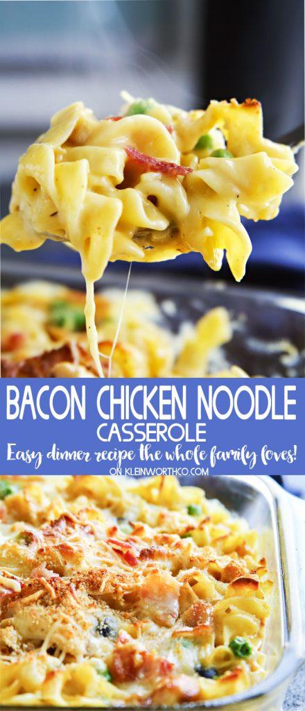 Bacon Chicken Noodle Casserole