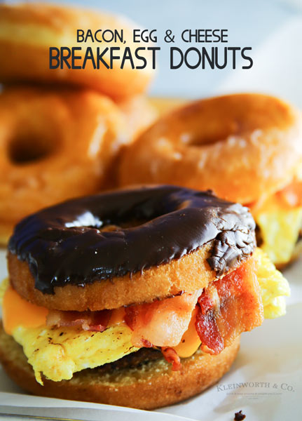 Bacon, Egg & Cheese Breakfast Donuts