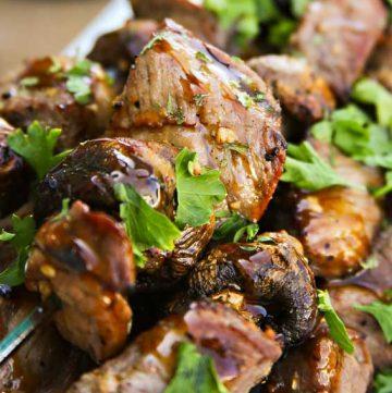 Beef & Mushroom Kabobs