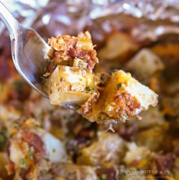 Recipe for Cheesy Bacon Ranch Potatoes