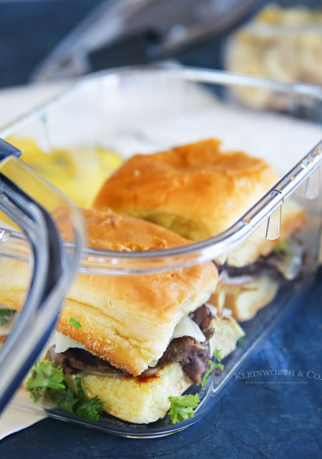 Easy French Dip Sliders for lunch