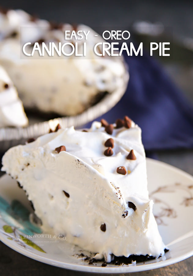 Easy Oreo Cannoli Cream Pie