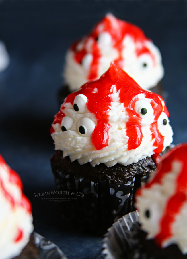 Ghoulish Monster Halloween Cupcakes recipe
