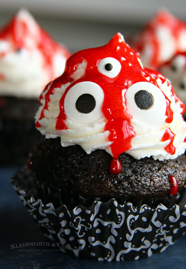 How to make Ghoulish Monster Halloween Cupcakes