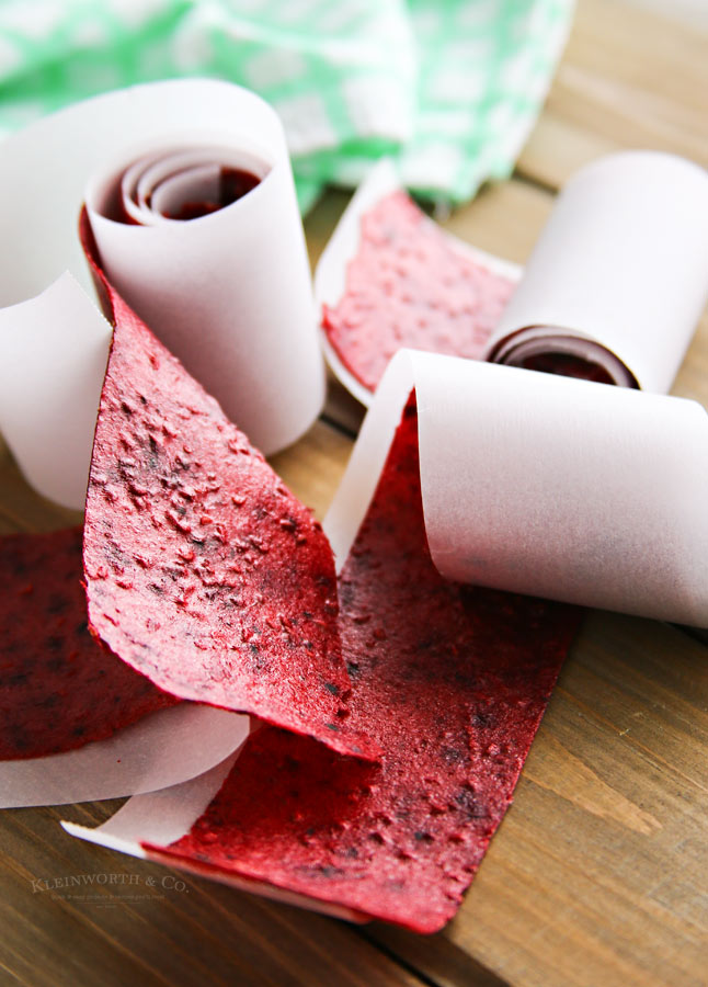 Mixed Berry Fruit Leather recipe