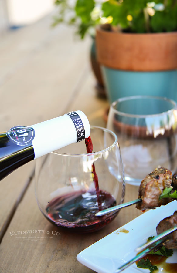 Wines to pair with Beef & Mushroom Kabobs