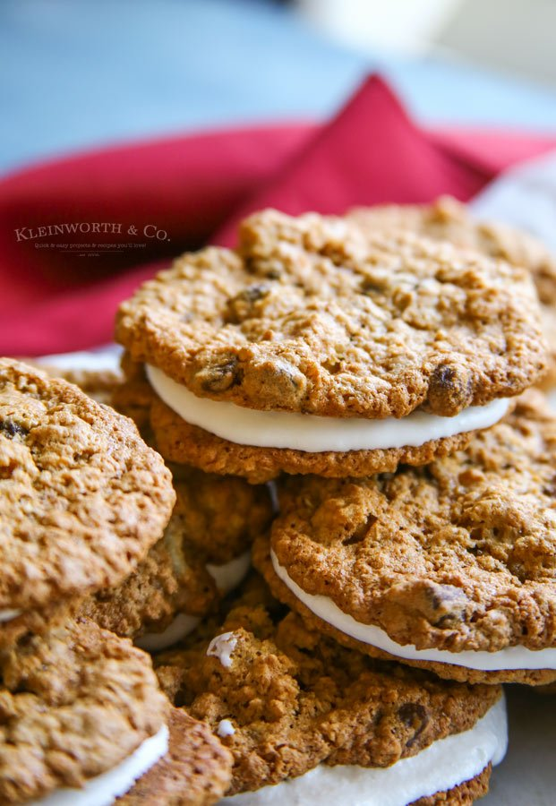 Oatmeal Cream Pie Cookies flourless oatmeal cookies