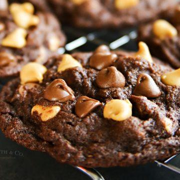 Peanut Butter Chocolate Brownie Cookies