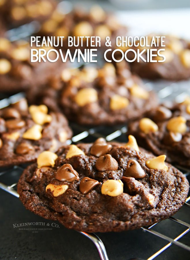 Peanut Butter Chocolate Brownie Cookies