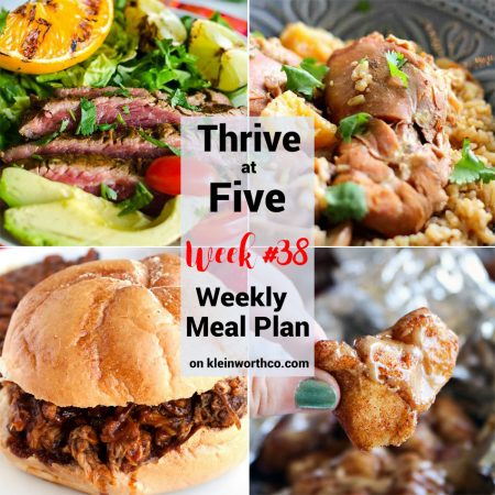Thrive at Five Meal Plan Week 38