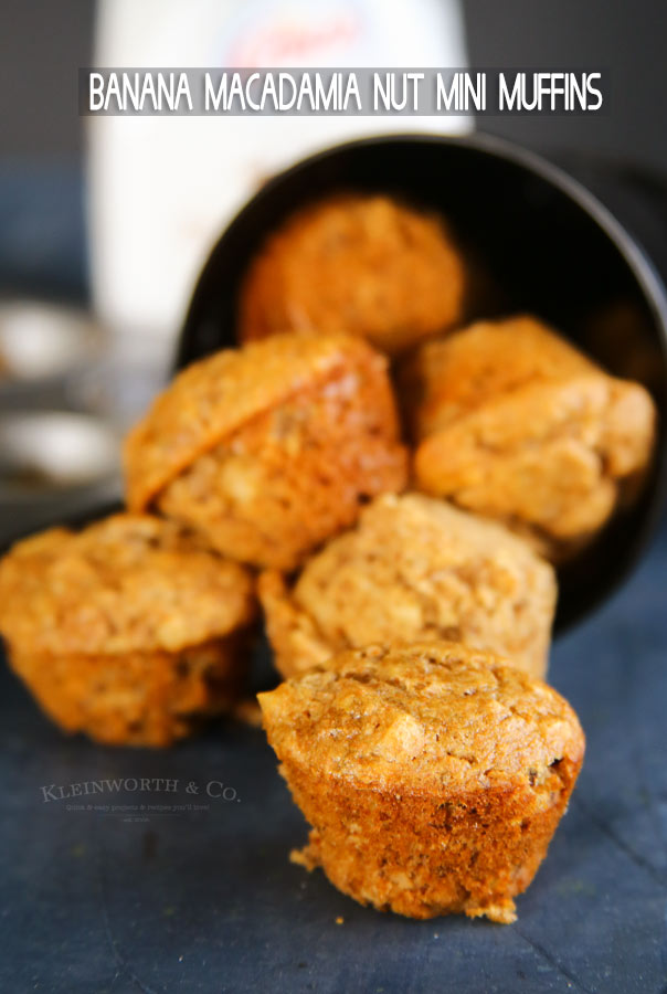 Banana Macadamia Nut Mini Muffins recipe