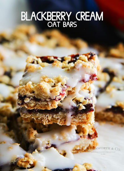Blackberry Cream Oat Bars