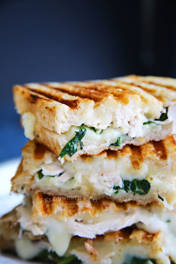 Chicken & Spinach Grilled Goat Cheese Sandwich