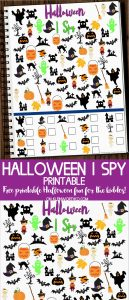 Free Halloween I Spy Printable for kids