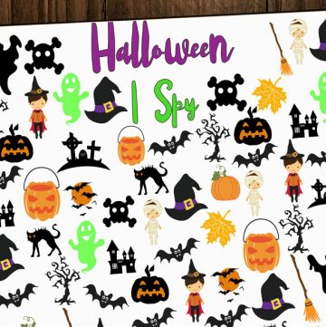 Free Halloween I Spy Printable
