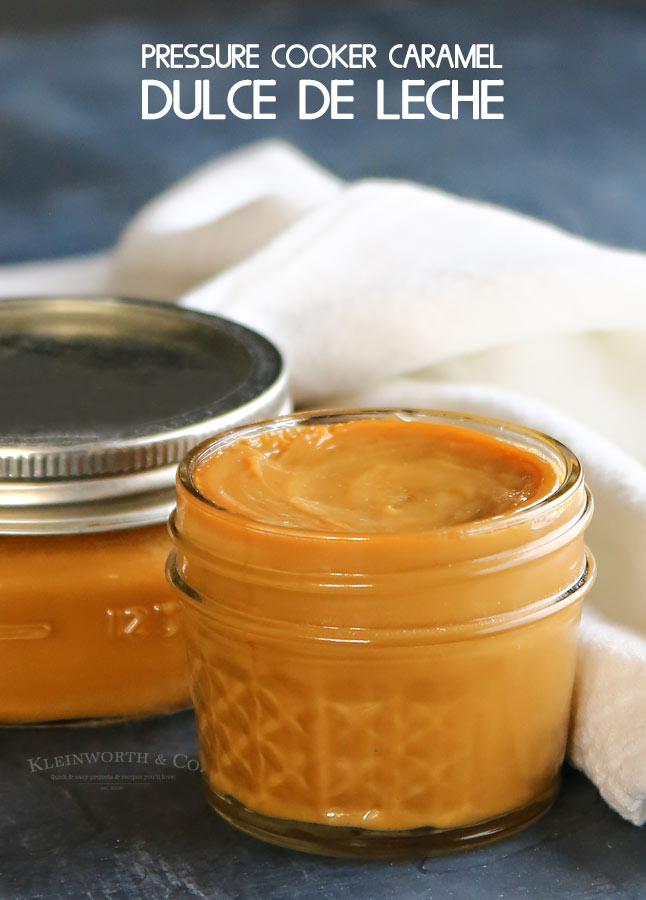 Pressure Cooker Caramel Dulce de Leche recipe